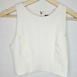 Line & Dot Womens Small Crop Top White NWT Zipper